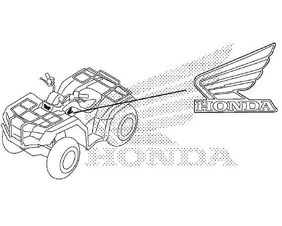 Adesivo Emblema Lado Direito do Tanque de Combustível - Fourtrax (2008 até 2018)
