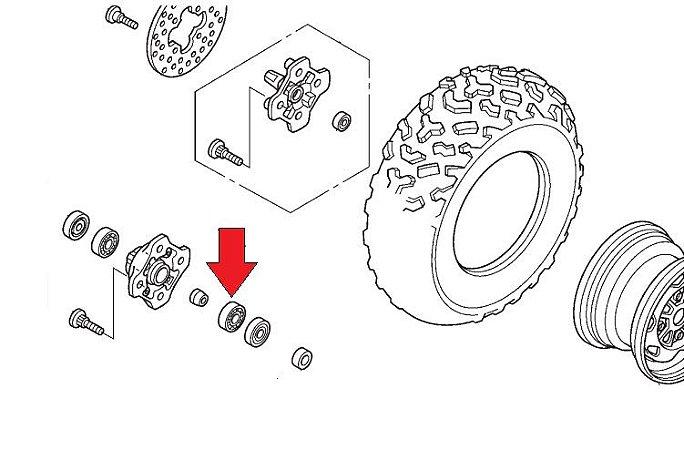 Rolamento 6004 Roda Dianteira Fourtrax 2008 á 2013