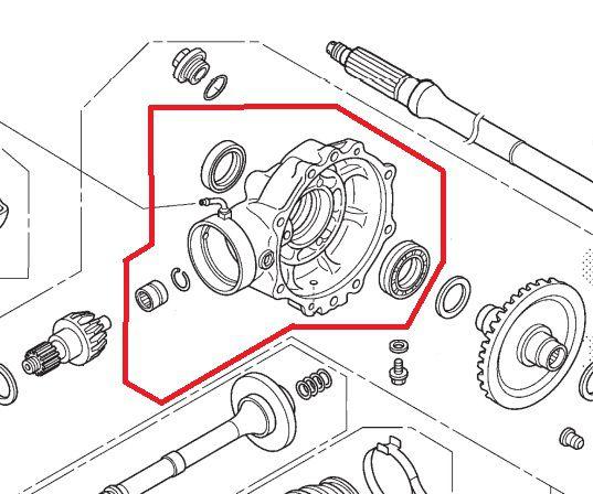 Subconjunto Tampa do Cardan Traseiro Honda Fourtrax 420 (2014 até 2021)