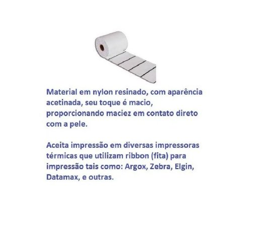 Etiqueta Composição 35x55x3 Nylon Resinado - Rolo 2742 unidades