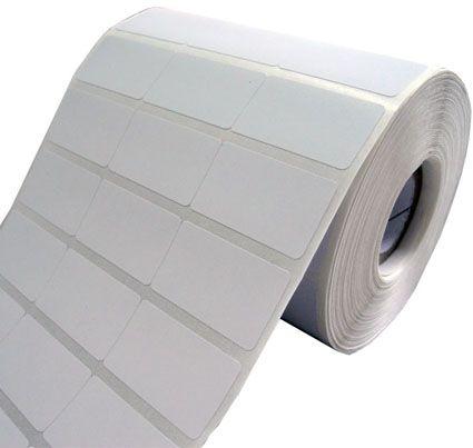 Etiquetas Adesivas Couche 34x23 mm Branca 3 colunas