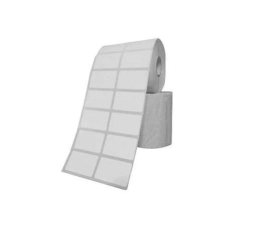 Etiqueta Adesiva Couche 40x25 mm Branca 2 colunas