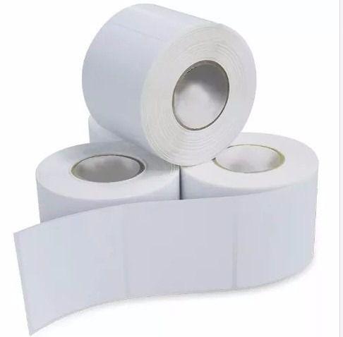 Etiqueta Adesiva Couche 100x130mm Branca com 01 Coluna