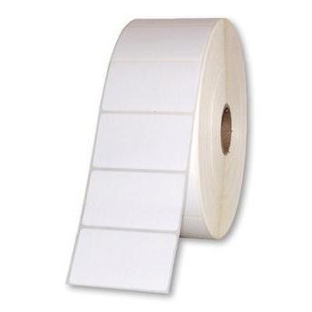 Etiqueta Adesiva Couche 50x30 mm Branca 1 coluna