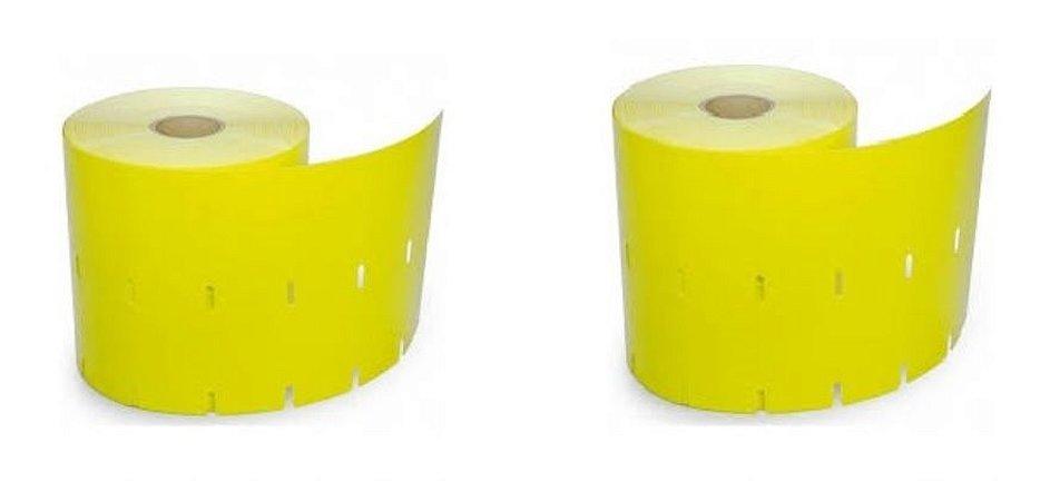 Etiquetas para Gôndolas 100x30mm Amarela - Impressora Argox e Elgin