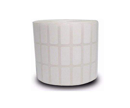 Etiqueta Adesiva Couche 30x15 mm Branca 3 colunas