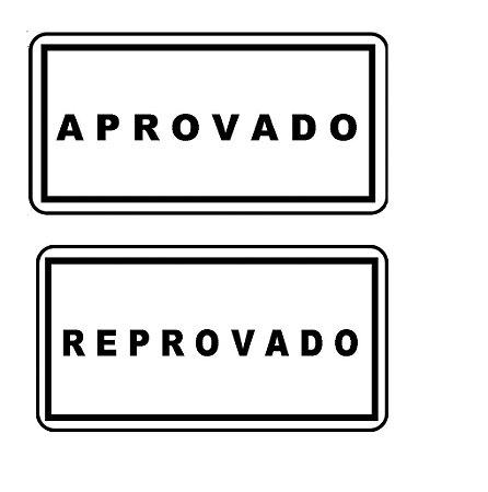 Etiqueta Adesiva Controle De Qualidade Aprovado, Reprovado, Testado
