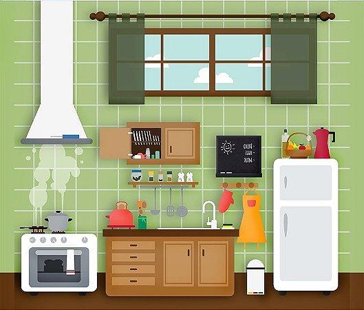 Fundo Fotografico Mini Cozinha 2 horizontal (1,60 x 2,10 metros)