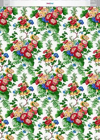 Fundo Fotografico - Floral Vintage (1,50 x 2,10 metros)