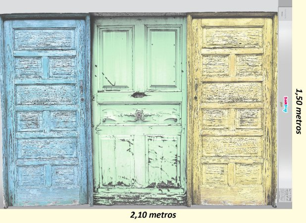 Fundo Fotografico - Baby Doors (2,10 x 1,50 metros horizontal)