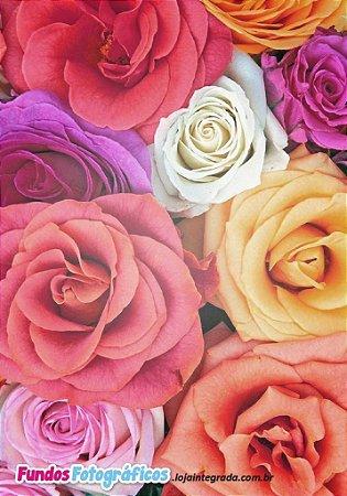 Fundo Fotografico - Primavera (Rosas 1) - 2 x 1,40 metros