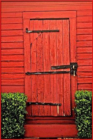 Porta 05 Vermelha (2 x 1,40 metros)