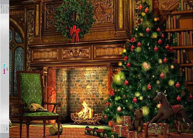 Fundo Fotografico - Bela Árvore de Natal 04 (2 medidas para escolher)