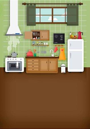 Fundo Fotografico Mini Cozinha (1,40 x 2 metros)