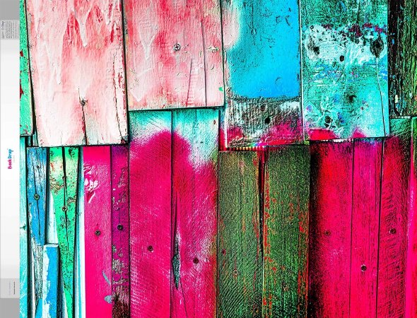 Fundo Fotografico - Madeira Colorida 2 (1,60 x 2 metros)