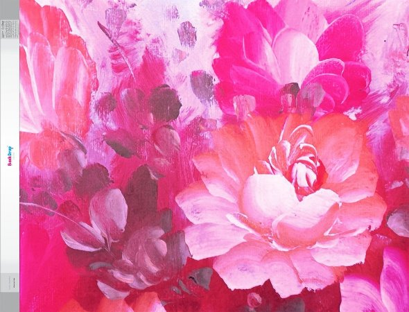 Fundo Fotografico - Floral em Tinta (1,60 x 2 metros)