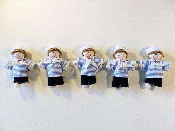 Kit 06 Peças: Marinheiro Miniatura