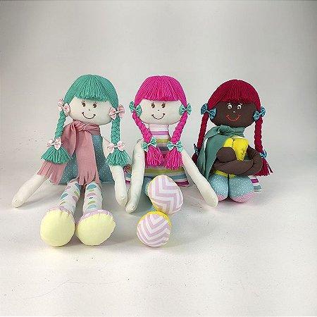 Kit 03 Bonecas de Pnao Sulas Coleção Kids