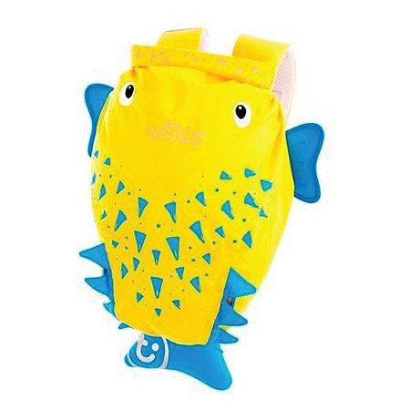 Mochila Infantil Paddlepak Peixe Espinho Spike (Amarelo) Trunki