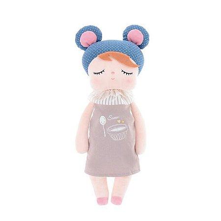 Boneca Metoo Angela Doceira Retro Bear Azul 33 cm