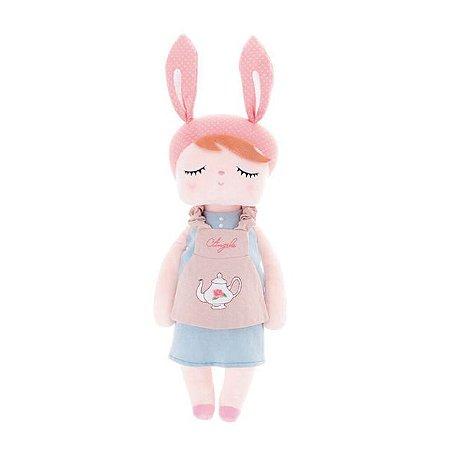 Boneca Metoo Angela Doceira Retro Bunny Rosa 46 cm