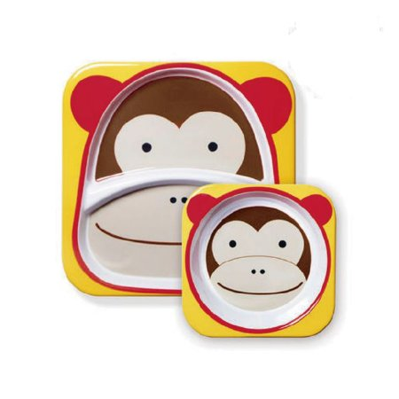 Conjunto de Pratos Zoo Macaco Skip Hop