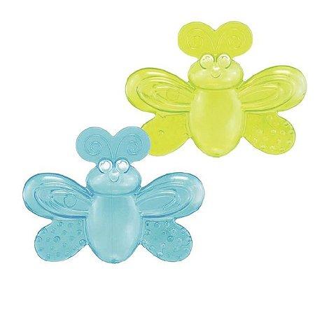 Mordedores com água Borboleta Sassy Verde e Azul
