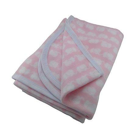 Manta para Bebê Soft Elefante Rosa