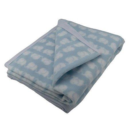 Manta para Bebê Soft Elefante Azul