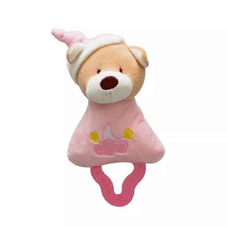 Mordedor Chocalho Ursinho Rosa  - Zip Toys