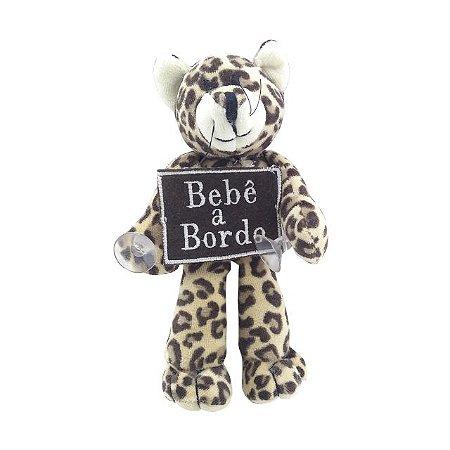 Bebê a Bordo Onça Pintada de Pélucia - Zip Toys