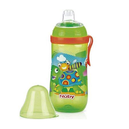 Garrafinha Decorada com bico de silicone – Bichos – 360 ml - Nuby