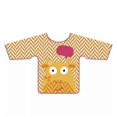 Babador Impermeável com Manga Girafa - Multikids Baby