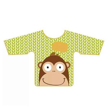 Babador Impermeável com Manga Macaco - Multikids Baby