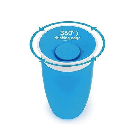 Copo Grande 360 graus de treinamento Antivazamento  - 296 ml - Azul - Munchkin