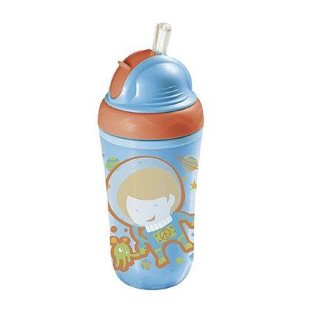 Copo Térmico com Canudo de Silicone Cool - Azul - (24M+) - Multikids Baby