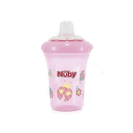 Copo com bico de silicone – Joaninha - Rosa – 207 ml - Nuby