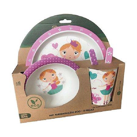 Kit Alimentação Infantil 5 peças Eco – Dançarina – Girotondo Baby