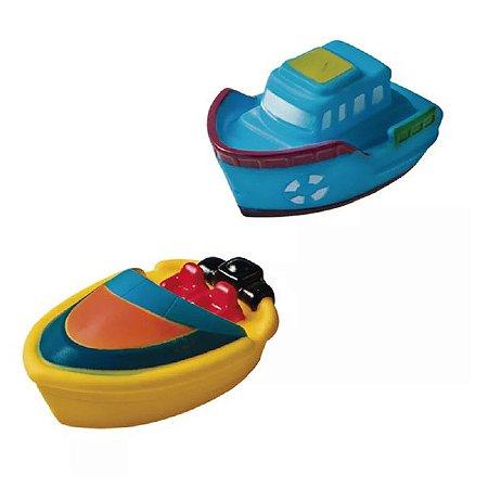Brinquedo Barquinhos para Banho (barco azul / barco amarelo) - Girotondo Baby