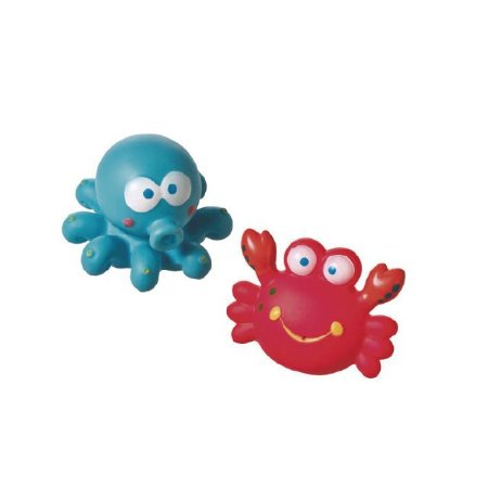 Brinquedo Animais do Mar para Banho - Caranguejo e Polvo - Girotondo Baby