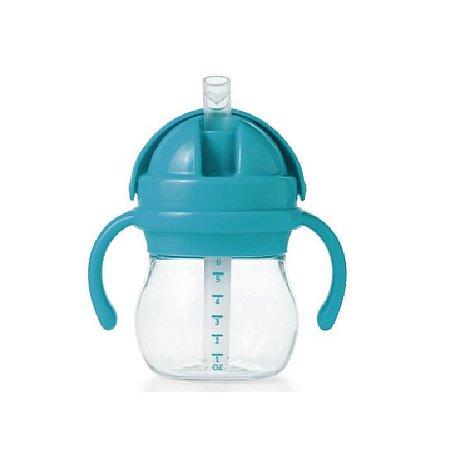Copo Infantil de Treinamento com Canudo de Silicone, Alça e Tampa Articulada - Azul - 150 ml -  Oxo Tot