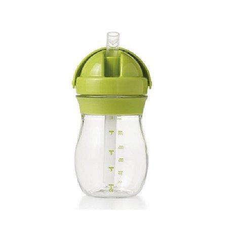Copo Infantil de Treinamento com Canudo de Silicone  e Tampa Articulada - Verde – 250 ml -  Oxo Tot