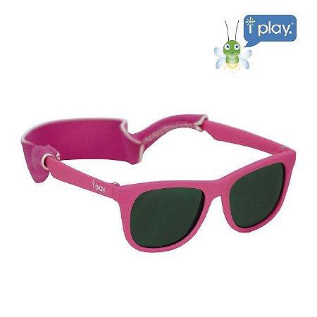 Óculos de Sol Flexível Infantil - Rosa Pink - 2-4 anos - Iplay