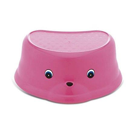 Degrau / Banquinho Infantil para Higiene - Rosa Pop - Adoleta