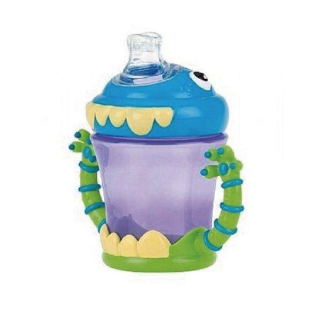 Copo Monstro com bico de silicone e alça – 210 ml - Nuby