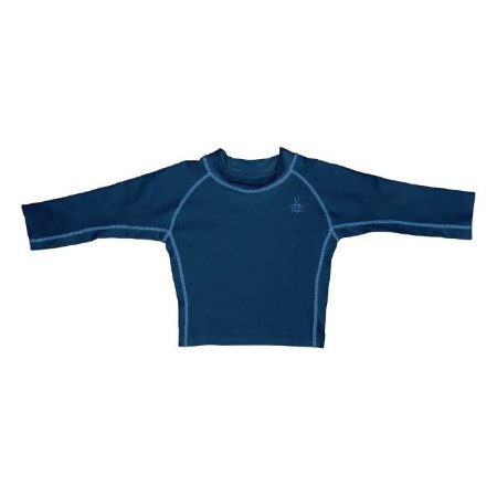 Camiseta Blusa Infantil de Banho Manga Longa Azul Marinho FPS 50+ Iplay