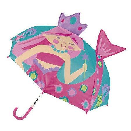 Guarda-chuva infantil 3D Sereia Stephen Joseph