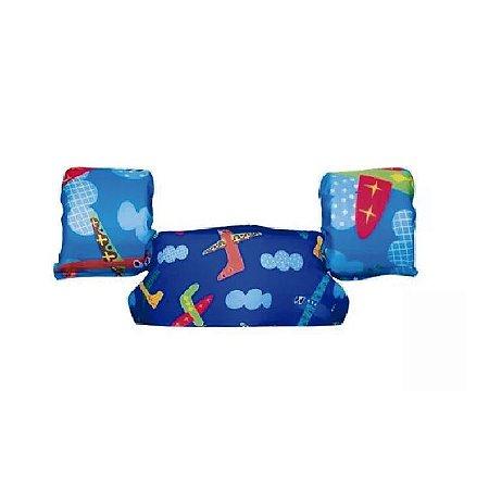 Bóia Colete Infantil Aviões - 10 a 20 kg - Panda Pool