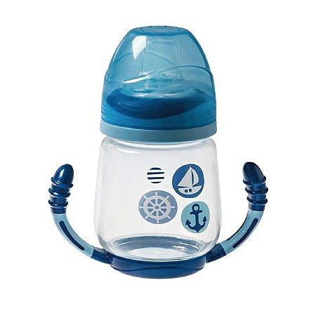 Copo com Alça Invertida Funny Azul Barquinho 200 ml +6 m Girotondo