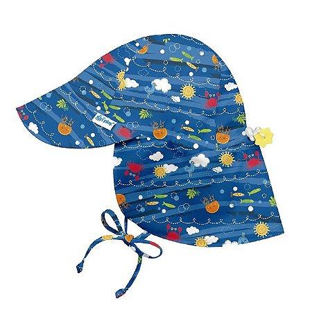 Chapéu de Banho Infantil tipo Australiano com FPS+50 Oceano Atlântico - G (2 a 4 anos) - Iplay